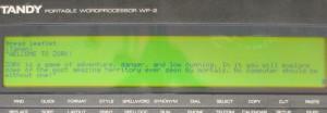 Tandy WP-2 Zork Leaflet